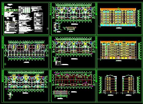 单元式多层住宅建筑施工图