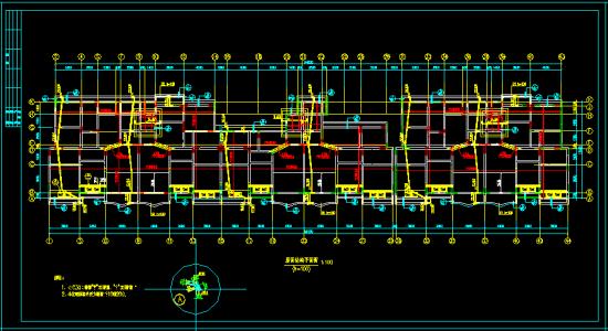 某11层底框剪力墙小高层设计图 -结构工程资料