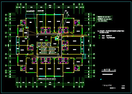 消控室,应急照明电源等消防负荷为二类负荷,一般负荷为三类负荷.