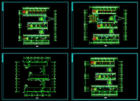 某中学教学楼平面图-建筑工程资料