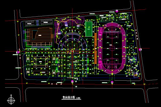 某考点定位(设计图、竖向设计图)-建筑工程机械广场设计资料精讲pdf图片